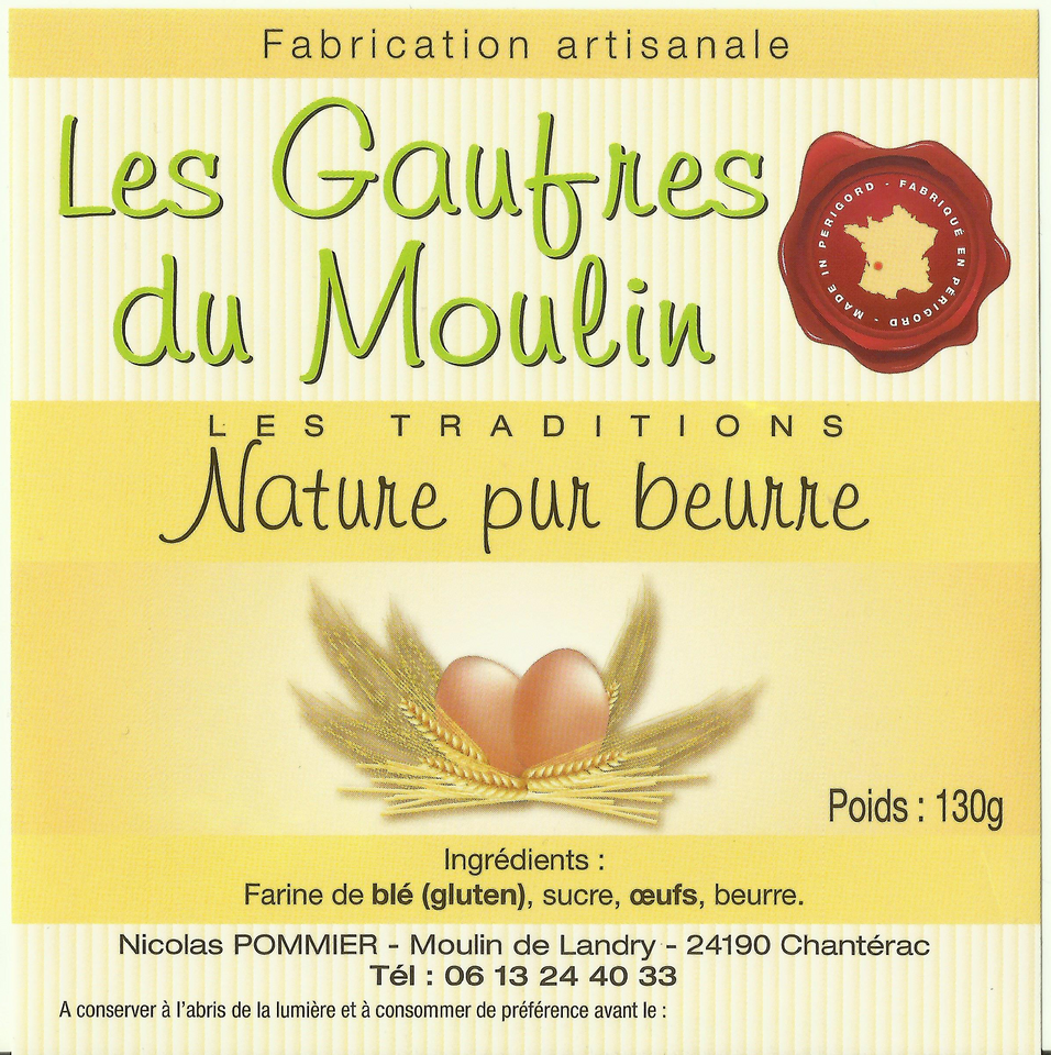 gaufre-pur beurre-moulin-huile-perigord-