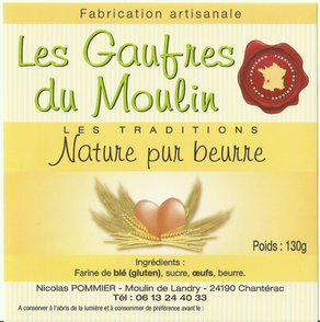 gaufre-pur beurre-moulin-huile-perigord-