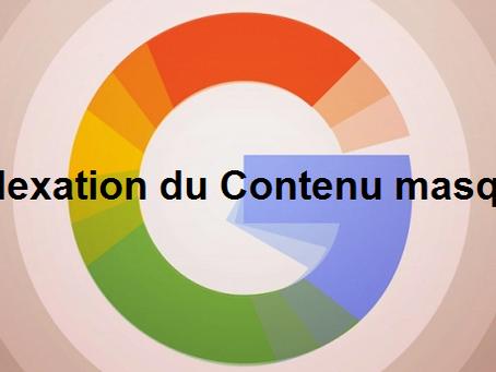 Comment Google indexe le contenu non-visible présent dans un onglet