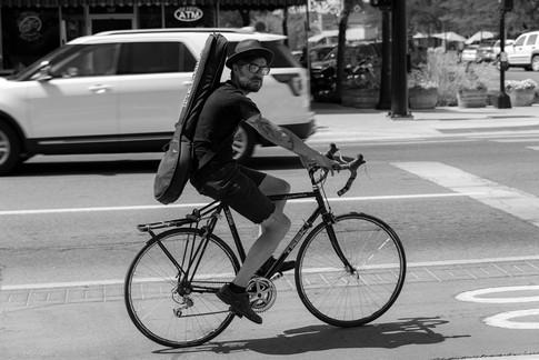 Biker in Missoula