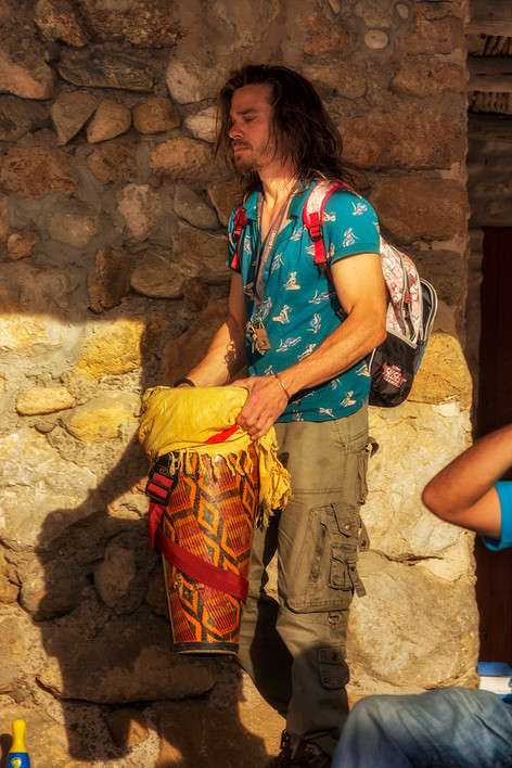 Joining the Drum Circle at Cala Benirras
