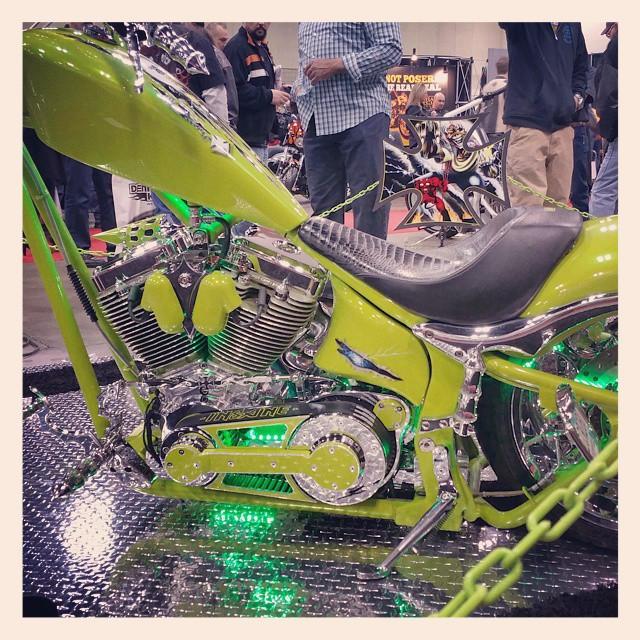 Instagram - Lime green & chrome #donniesmith #bikeshow #bike #motorcycles #stpau