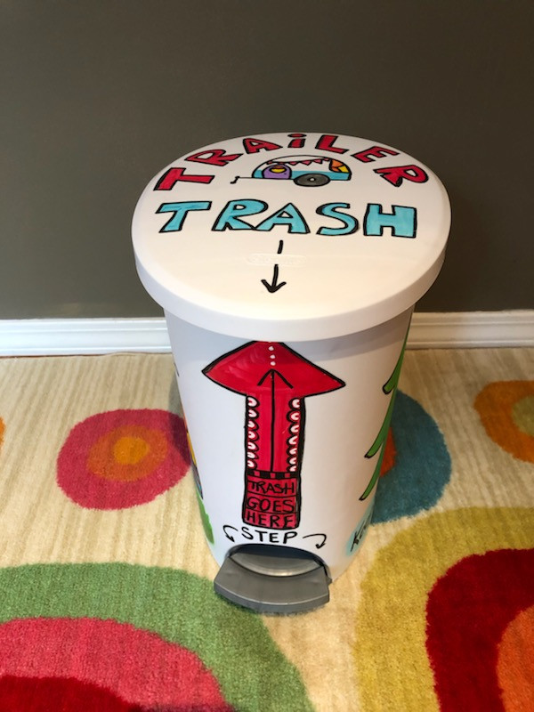 Trailer Trashcan