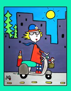 Scootin' Not Pollutin