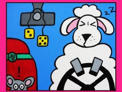 A Sheep at the Wheel - Card