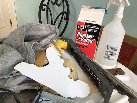tools and materials used for historic plaster restoration