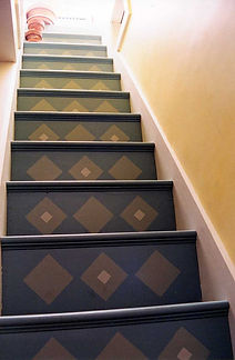 Custom decorative painting on a staircase