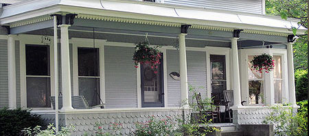Residential exterior painting by Acorn Painting in Bristol VT