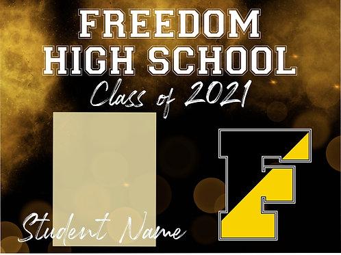Freedom High School 2021 Senior *Custom Photo* Yard Sign