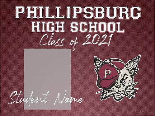 Phillipsburg 2021 Senior *Custom Photo* Yard Sign