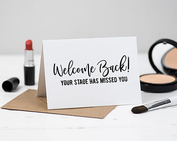 Welcome Back Theatre Card London Paperie