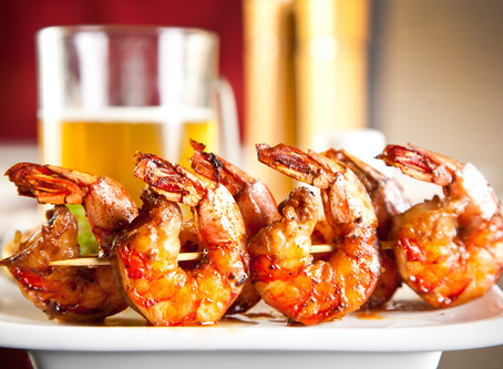 Grilled Shrimp en Brochette