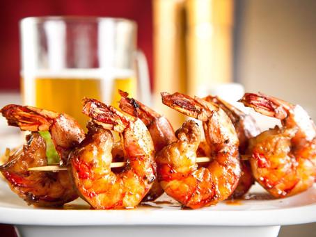 Grilled Shrimp en Brochette