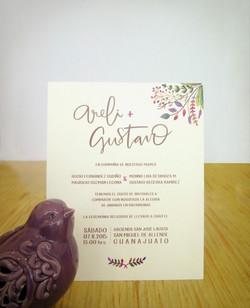 Invitación Areli y Gustavo