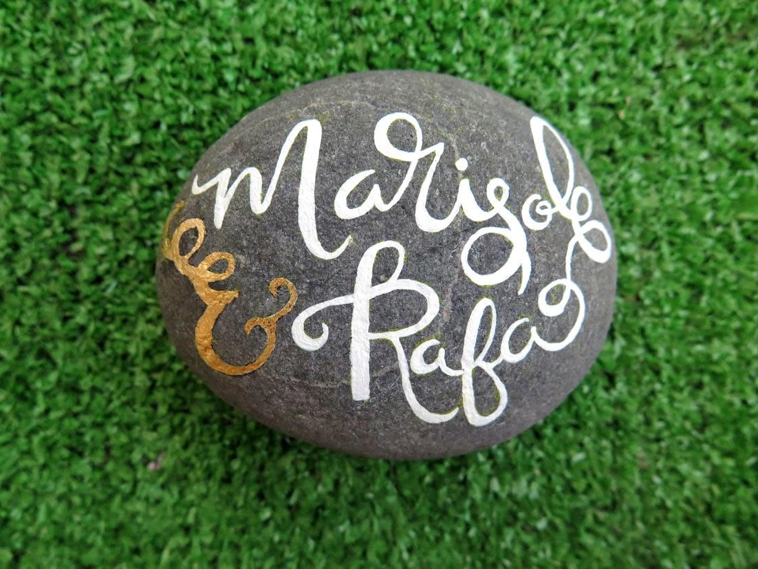 Piedra con lettering