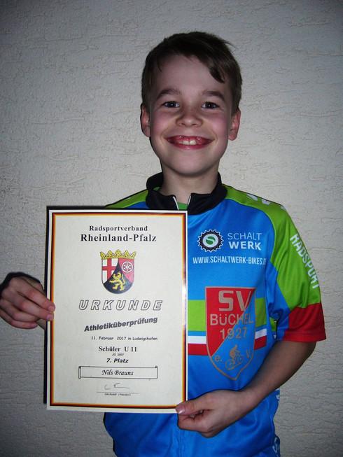 Nils bei der Athletikprüfung in Ludwigshafen