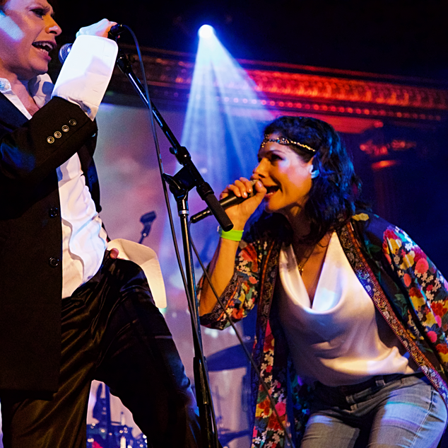 Queen V and Michael T. at The Cutting Room