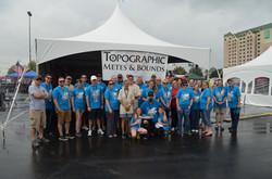 Topographic Group Photo BBQ