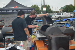 bbq team cooking