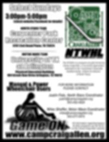 Wheelchair Hockey Flyer that has information on hockey program.