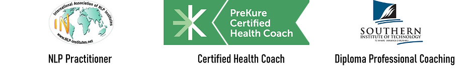NLP Practitioner, Certified Health Coach, Diploma Professional Coaching
