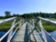 architecture-boardwalk-bridge-clear-sky-