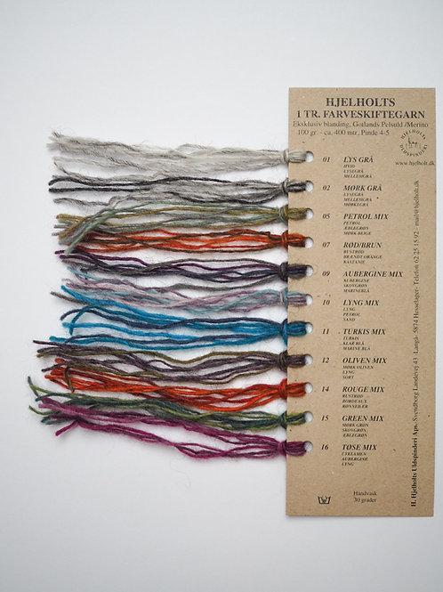 Farvekort - Farveskiftegarn 1-trådet