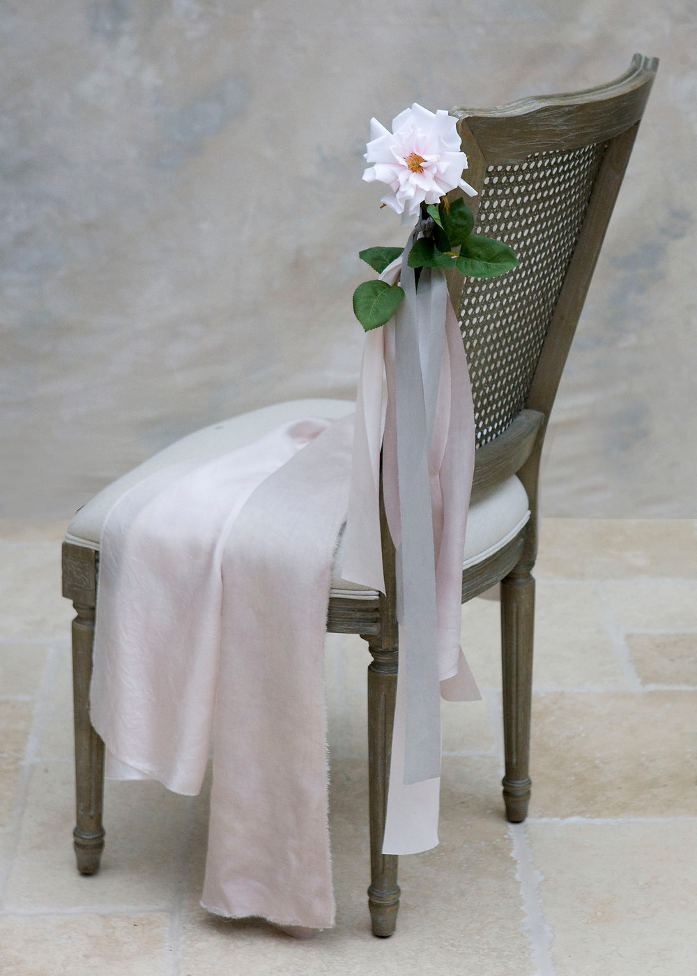 Rose Faux Flower Summer Pew End for Hire in Essex