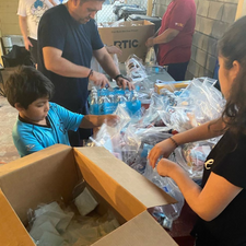 Preparing hygiene kits