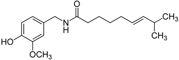 Chem forumla for Capsaicin