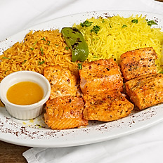 Grilled salmon kabob
