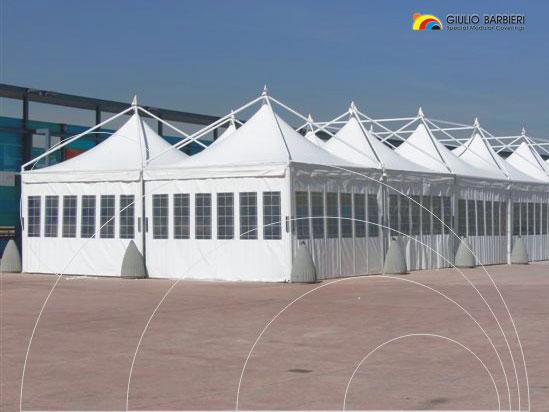 Многосекционный шатер павильон окна