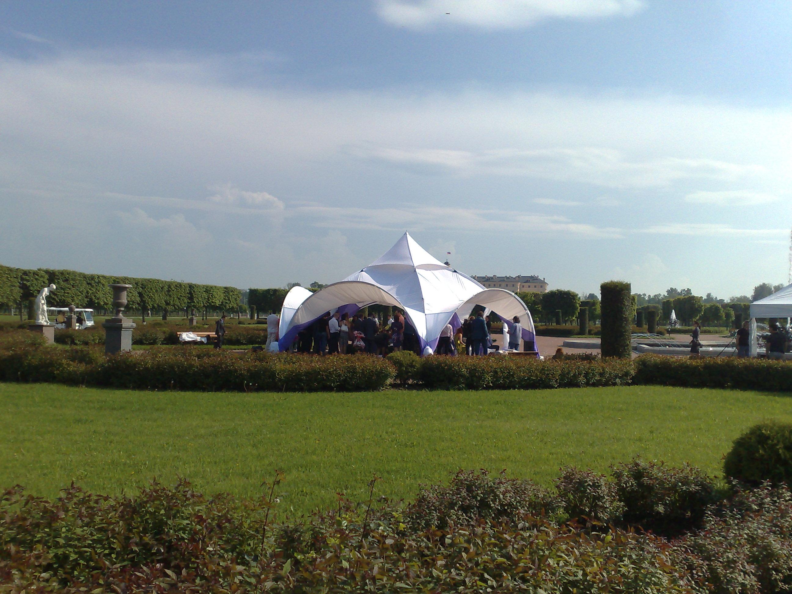Пятиугольный арочный шатер 55 кв.м