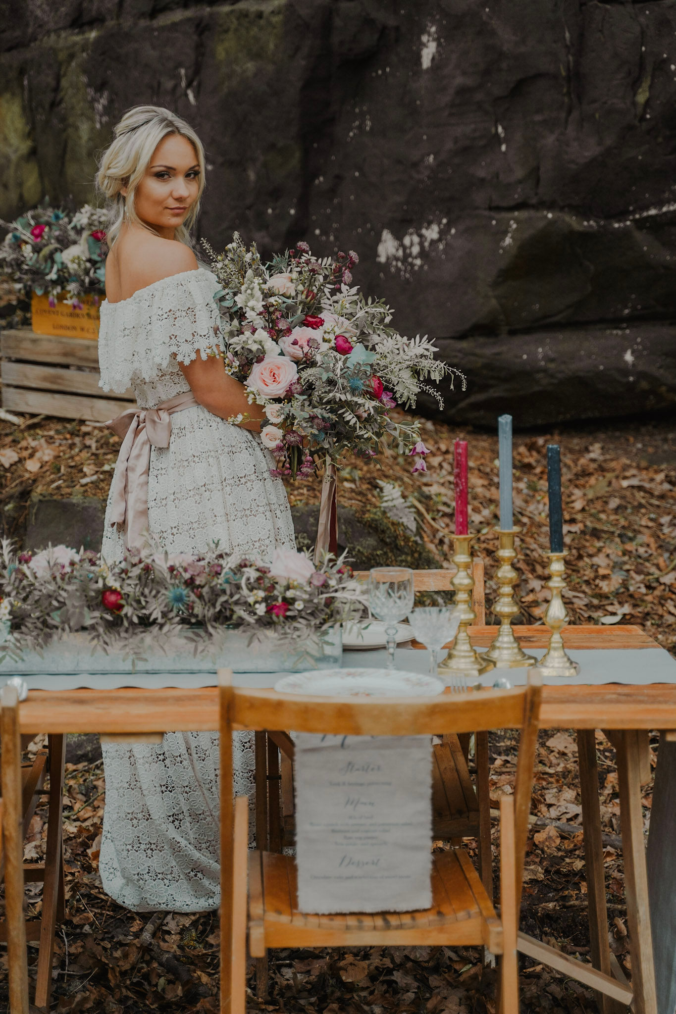 Patrick's Barn bridal styled shoot