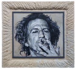 Keith Richards Rahmen Sandstein