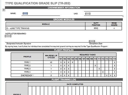 TR-202 TYPE QUALIFICATION GRADE SLIP