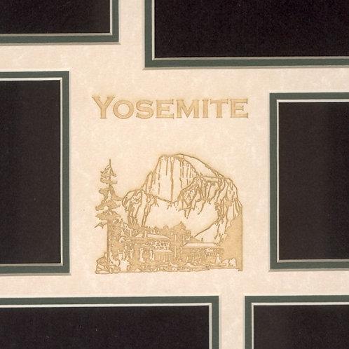 Yosemite Mat, Half Dome & Ahwanhee Hotel