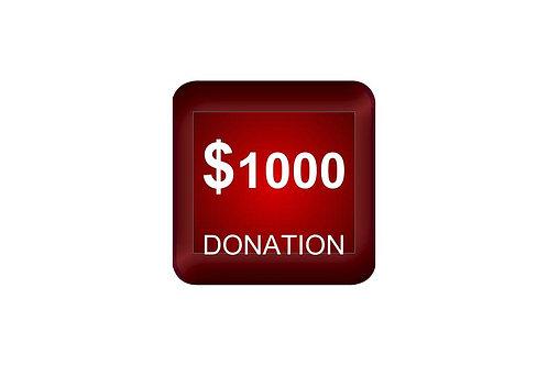 $1000 Donation