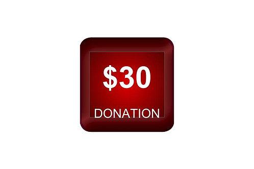 $30 Donation