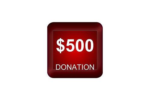 $500 Donation