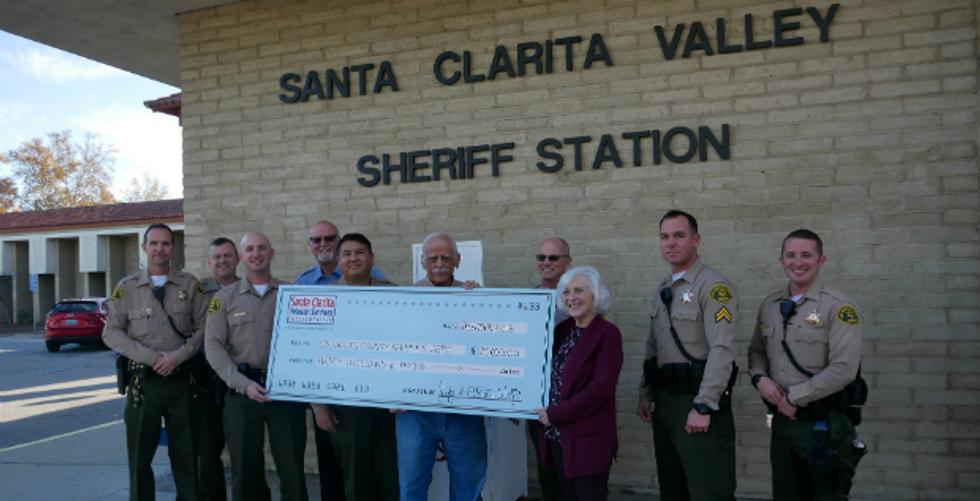 SCV Sheriff's Station Receives $20K Donation For Tasers