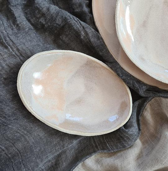 Shell Pink Oval Dish