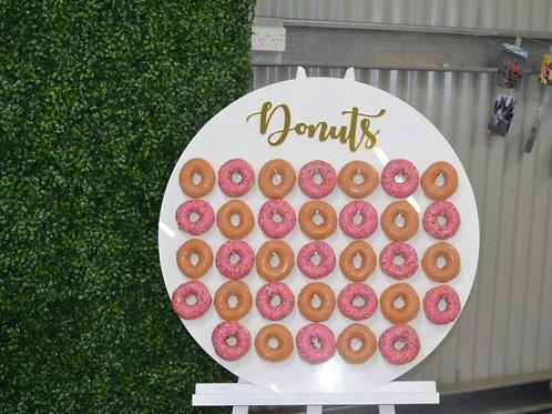 White Acrylic Donut Wall