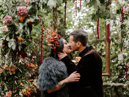House in the Woods autumnal woodland elopement inspiration