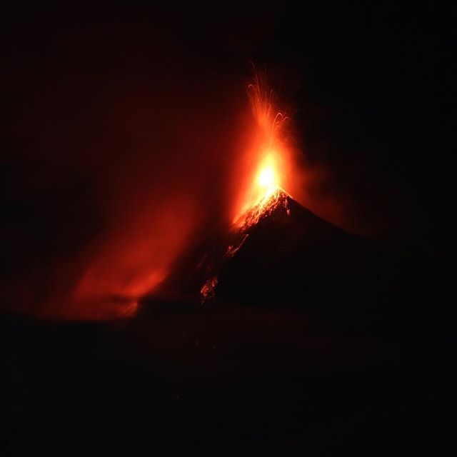 Fuego Erupting Antigua Guatemala