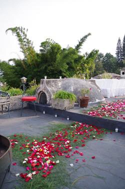 Rose Petal rug at meson panza verde