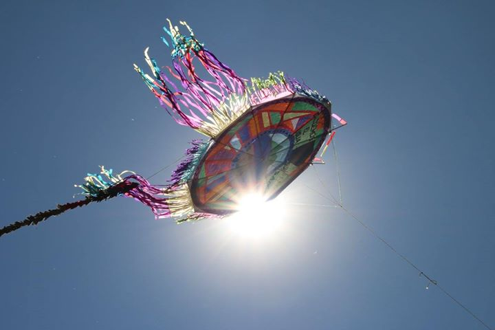 Kite flying in sumpango guatemala