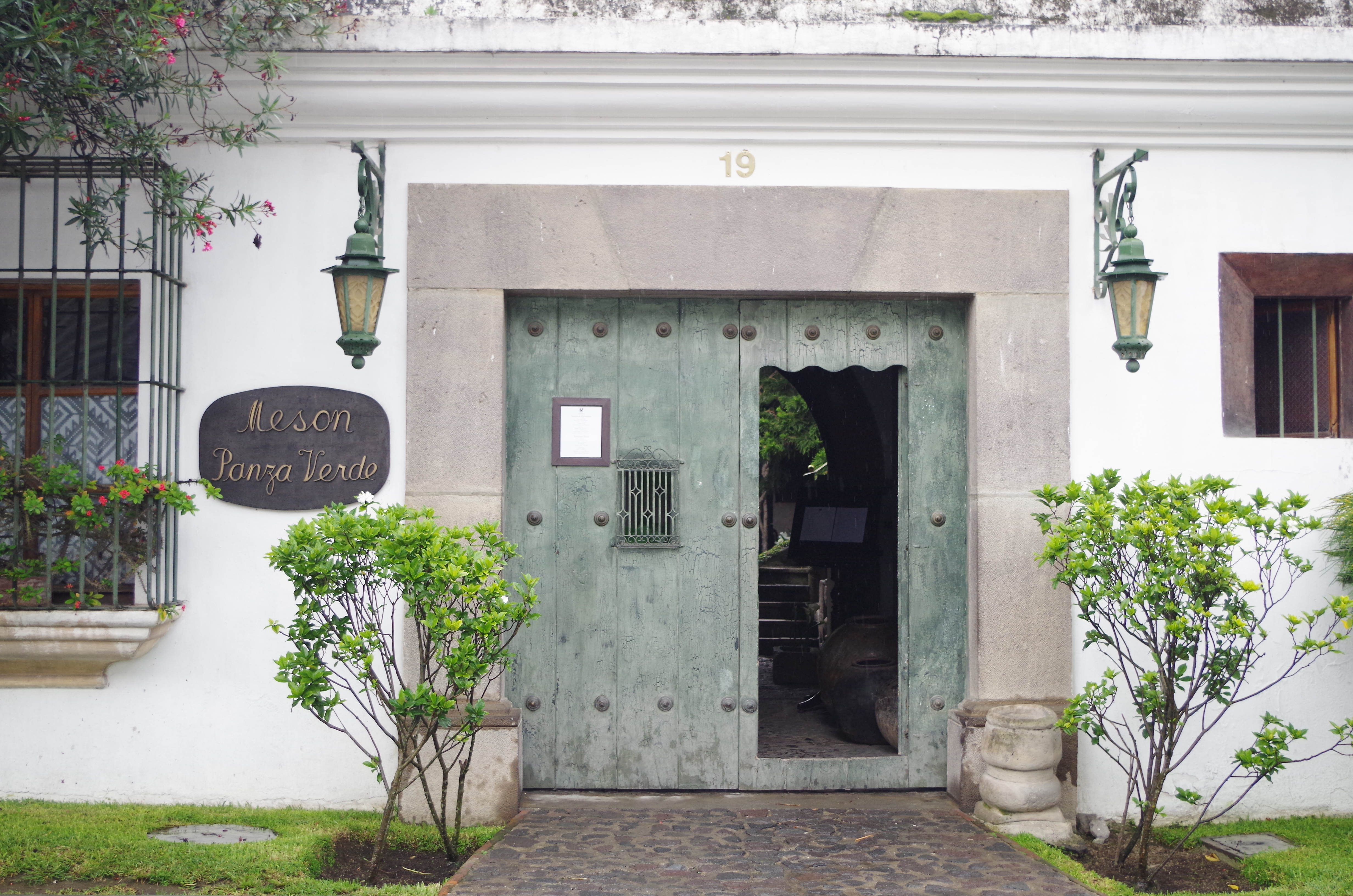Entrance to Meson Panza Verde