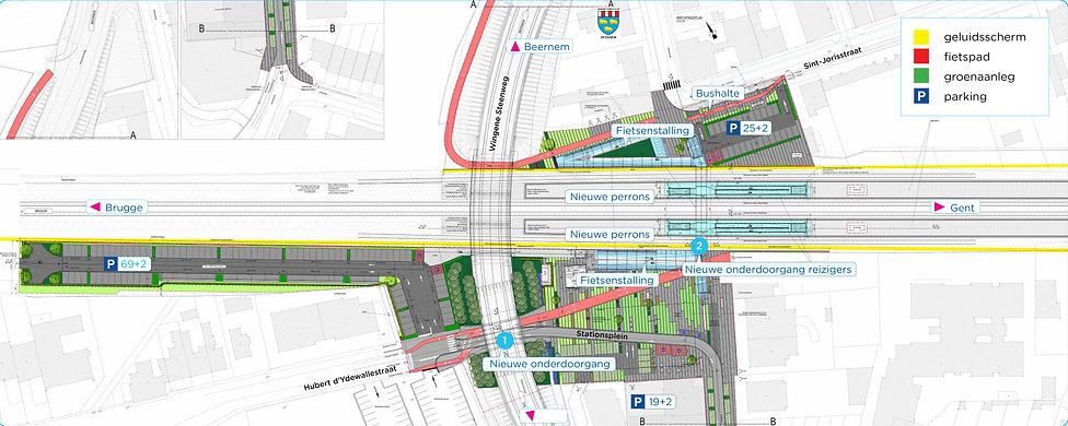 Plannen omgeving Station Beernem