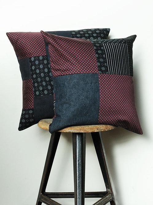 Vintage Fabrics & Denim Cushion